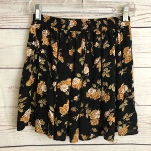 Brandy Melville Fall Floral Circle Skirt